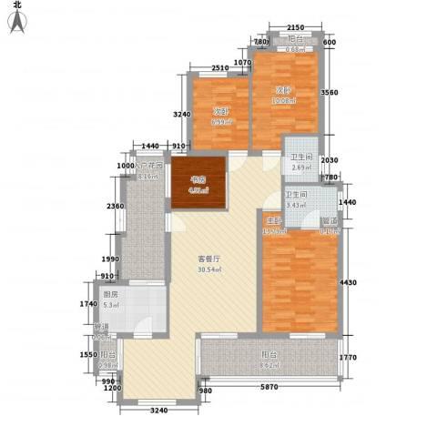 翠岗新村4室1厅2卫1厨140.00㎡户型图