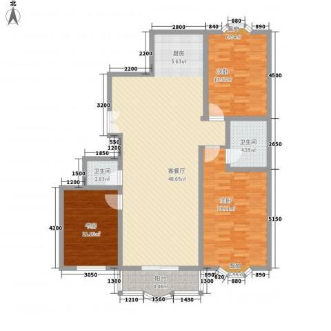 漪汾华苑(华宇)3室1厅2卫0厨132.00㎡户型图