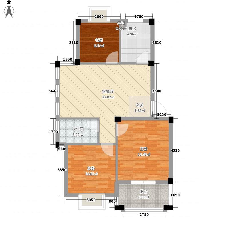 名仕紫金花园95.00㎡名仕紫金花园户型图J户型3室2厅1卫户型3室2厅1卫