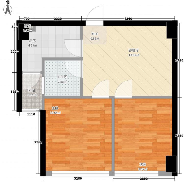 叉车厂宿舍60.00㎡叉车厂宿舍2室户型2室