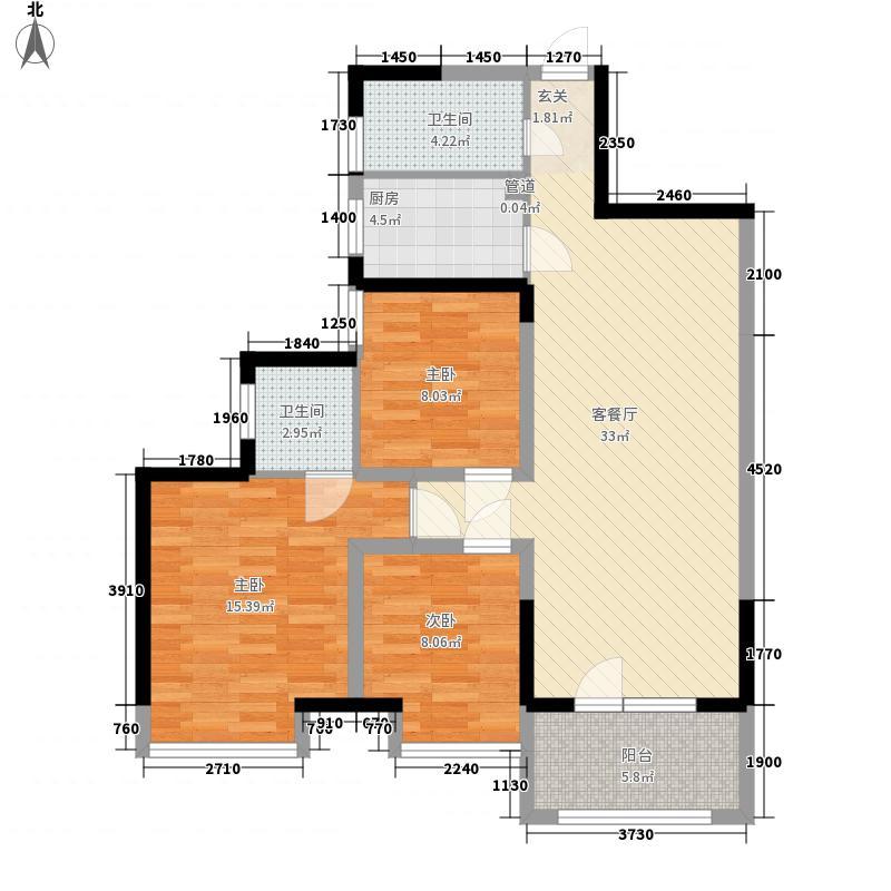 巢上城118.00㎡巢上城户型图一期1号楼高层A-3户型3室2厅2卫1厨户型3室2厅2卫1厨