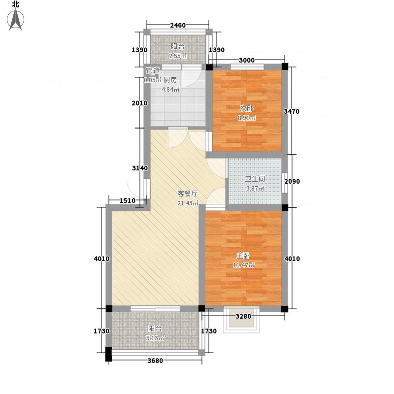 东城国际85.00㎡户型2室