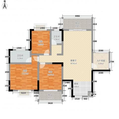 暮云水电八局宿舍3室1厅2卫0厨157.00㎡户型图