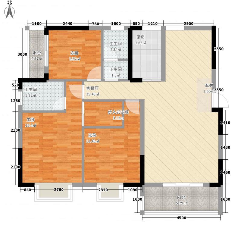在水一方22#楼2-3户型