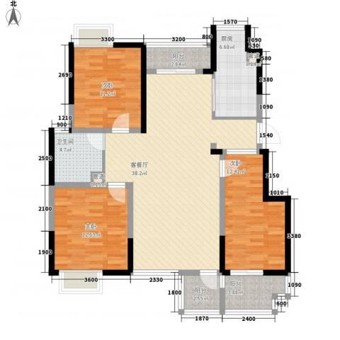 文华苑3室1厅1卫1厨137.00㎡户型图