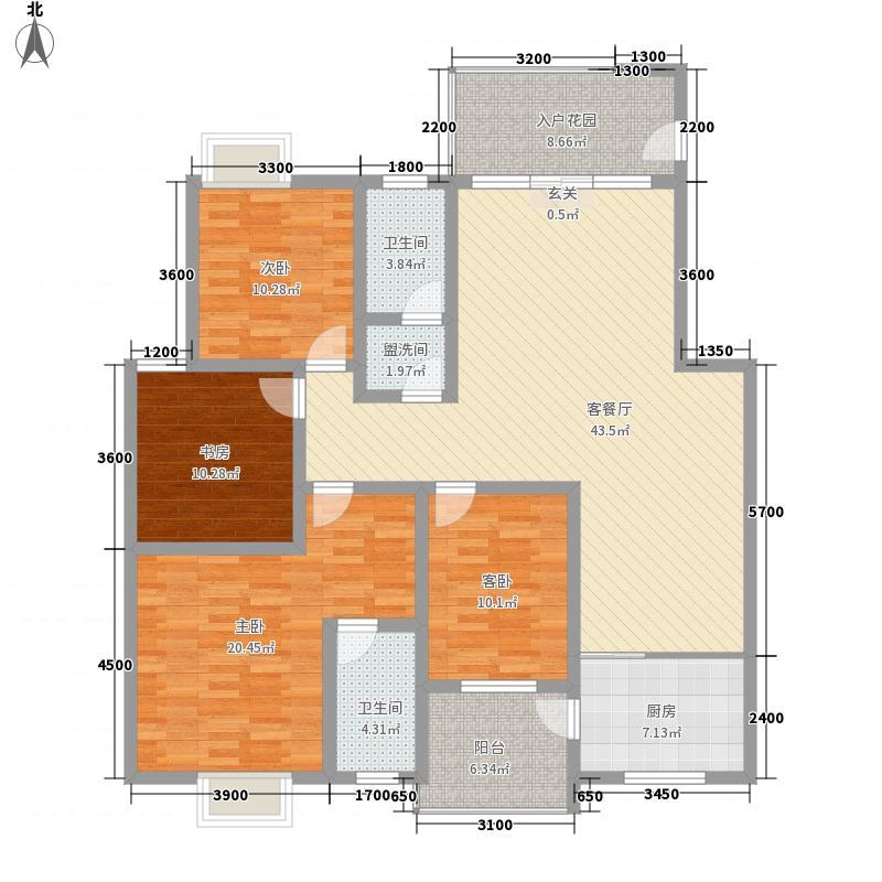 南湖岭秀阳光二期147.68㎡南湖岭秀阳光二期户型图4室2厅2卫1厨户型10室