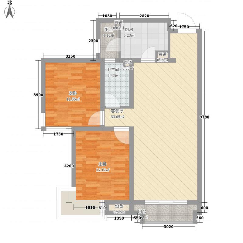兰运司家属院C2户型2室2厅1卫1厨