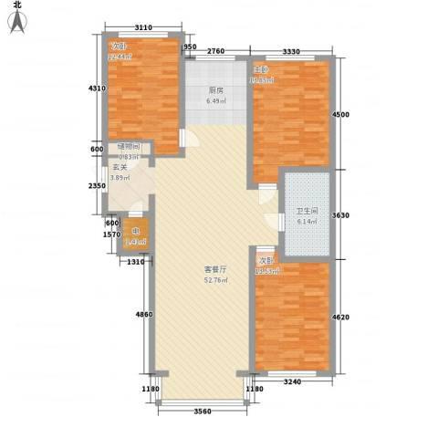 中华名苑3室1厅1卫0厨143.00㎡户型图