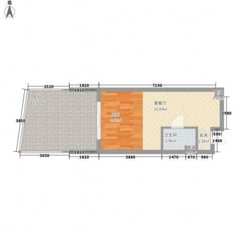 海南・金湾1厅1卫0厨57.00㎡户型图