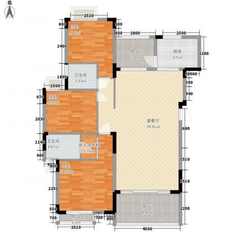 太阳湾3室1厅2卫1厨122.00㎡户型图