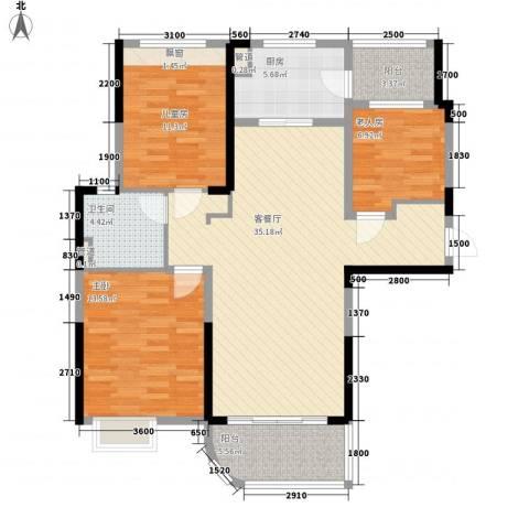 三明碧桂园3室1厅1卫1厨118.00㎡户型图