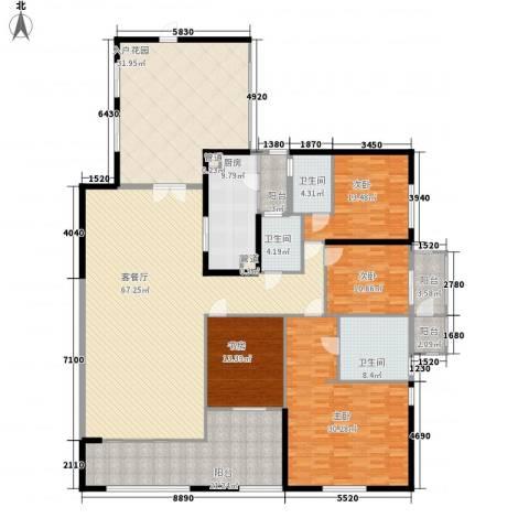 千灯湖一号公馆4室1厅3卫1厨307.00㎡户型图