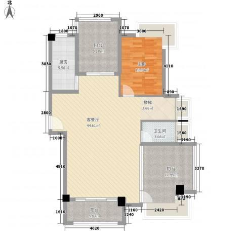 联发欣悦园1室1厅1卫1厨128.00㎡户型图