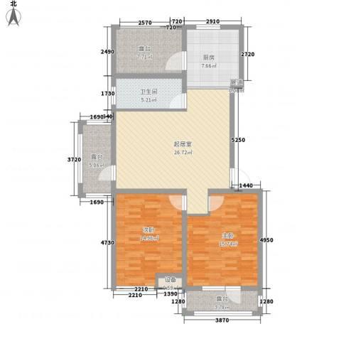 御龙仙语湾2室0厅1卫1厨100.16㎡户型图
