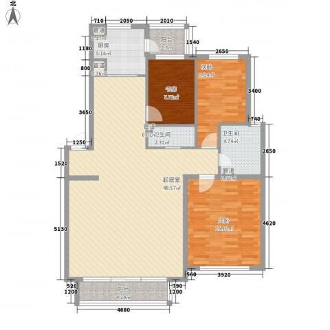 聚鑫小区三期3室0厅2卫1厨142.00㎡户型图