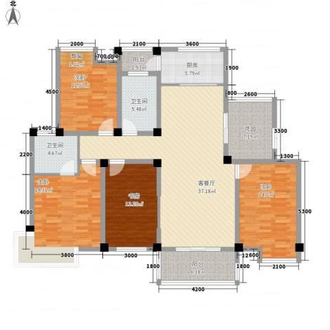 海德公园4室1厅2卫1厨139.80㎡户型图