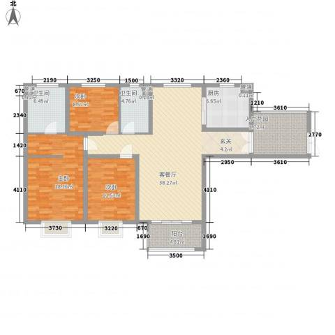 世纪花园3室1厅2卫1厨155.00㎡户型图