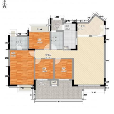 幸福枫景花园4室1厅2卫1厨129.00㎡户型图