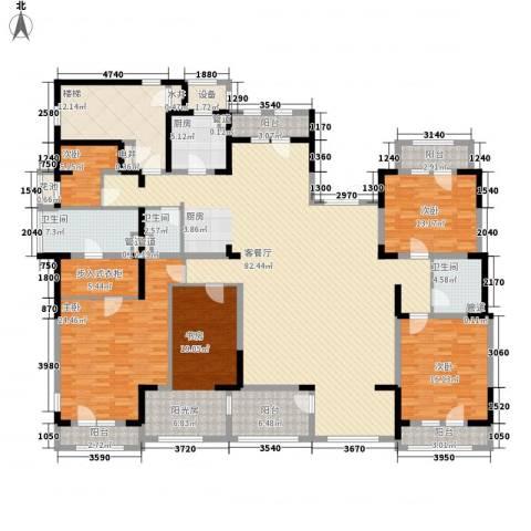 麦迪逊花园二期5室1厅3卫1厨258.00㎡户型图