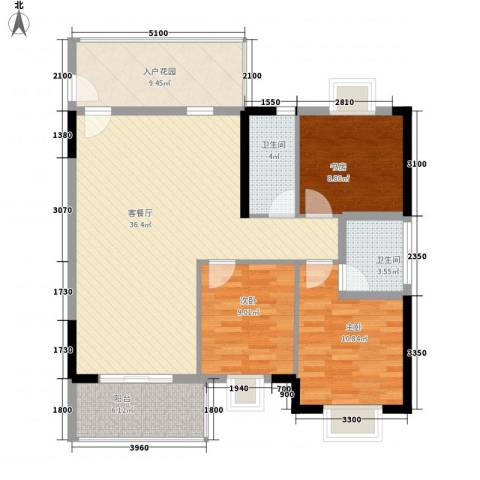 嘉利豪庭3室1厅2卫0厨115.00㎡户型图