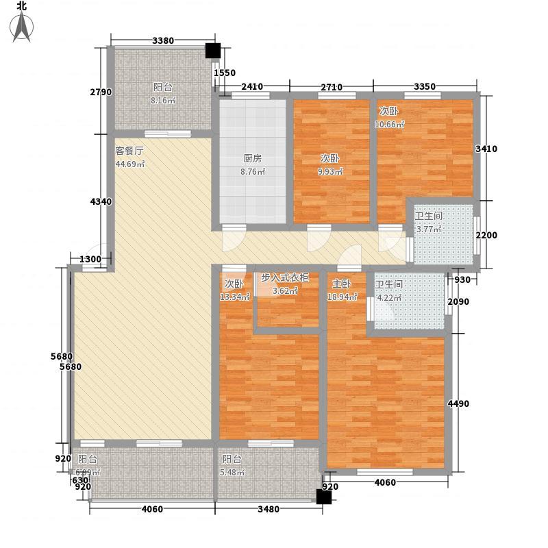 襄阳新城沁园春161.00㎡10#楼南北朝向4A户型4室2厅2卫1厨