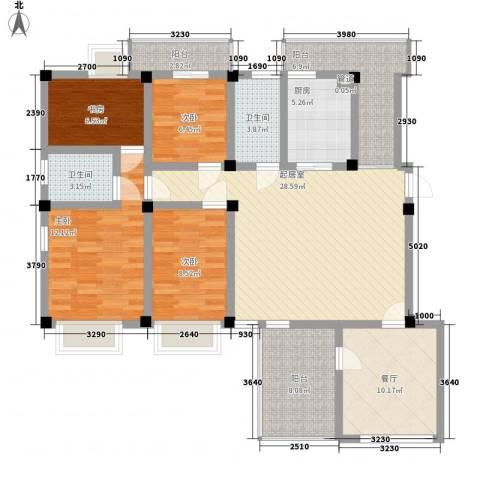 嘉城尚郡4室1厅2卫1厨153.00㎡户型图