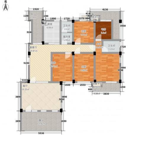 嘉城尚郡5室2厅2卫1厨189.00㎡户型图