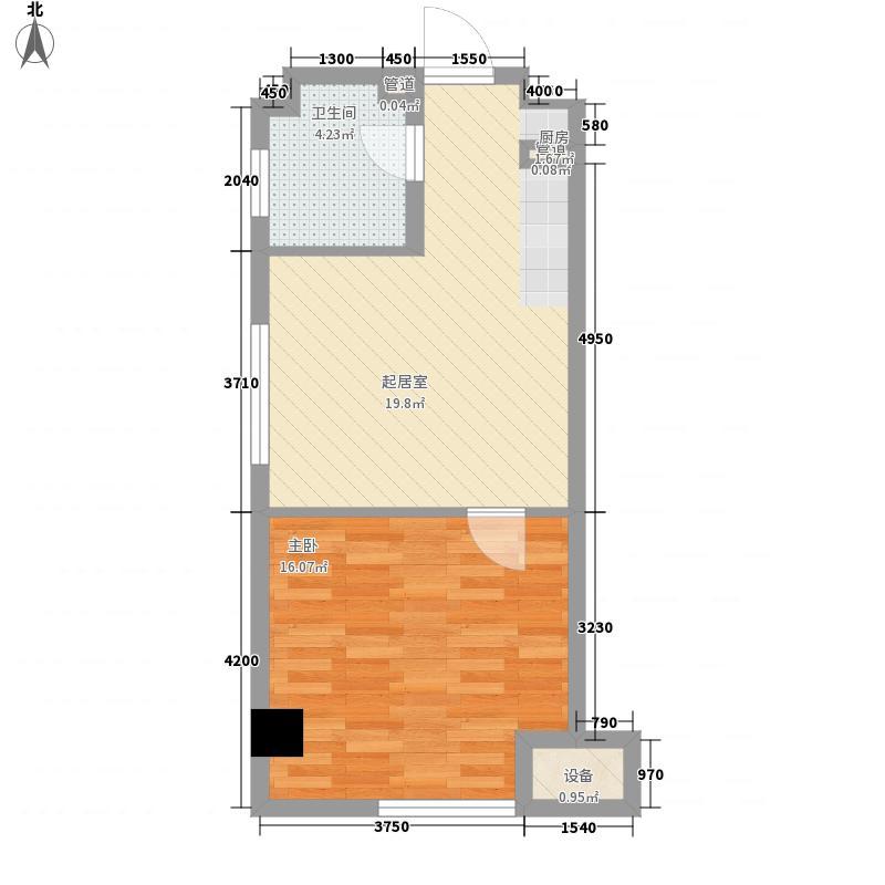 金地名京61.00㎡金地名京户型图A1-2户型图1室2厅1卫户型1室2厅1卫