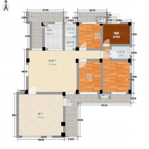 嘉城尚郡4室2厅2卫1厨149.00㎡户型图