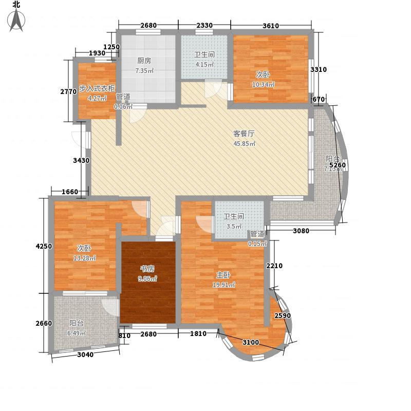 银盛泰盛世景园18.34㎡小高层1户型4室2厅2卫