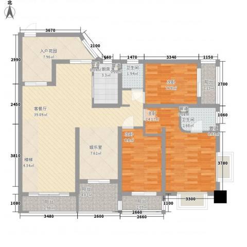 �海3室1厅2卫1厨142.00㎡户型图