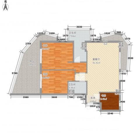 海南・金湾3室1厅2卫0厨145.00㎡户型图