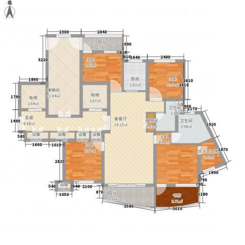 中通翡翠公馆5室1厅2卫1厨108.00㎡户型图