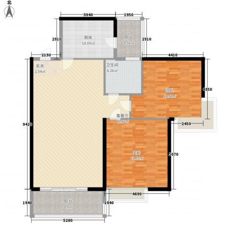 金湖花园2室1厅1卫1厨166.00㎡户型图