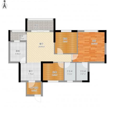 东海名都1室1厅2卫1厨111.00㎡户型图