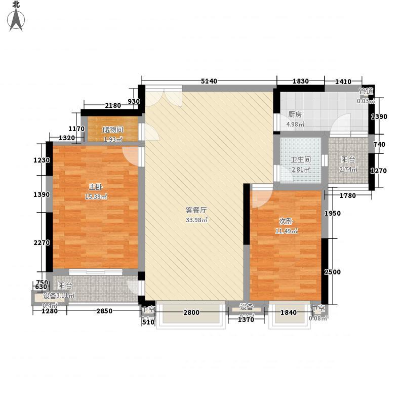 红太阳国际财智广场一期标准层B2户型