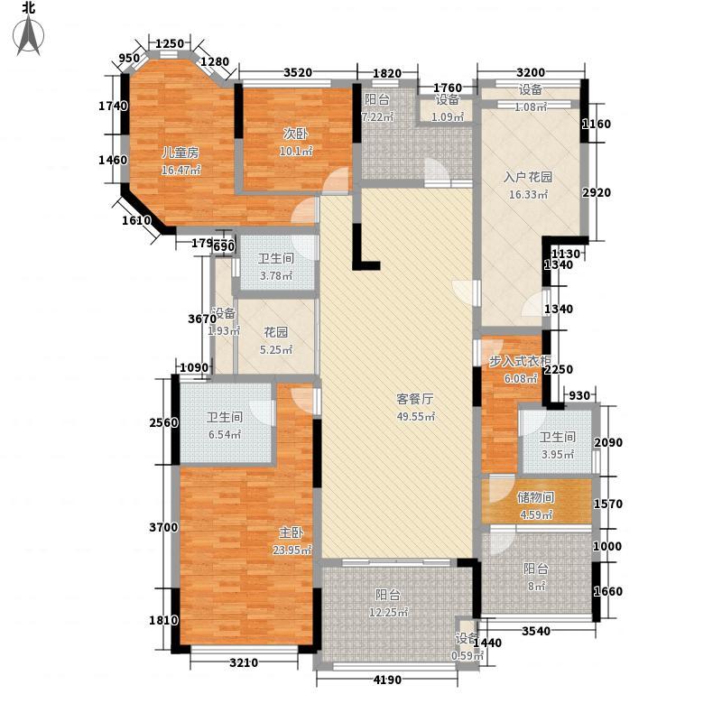万科金域华庭榆景阁B01单位户型4室3厅3卫1厨