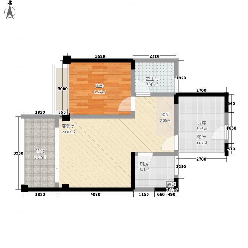 东港印象88.13㎡东港印象家园户型图B座D户型复式户型图2室2厅2卫户型2室2厅2卫