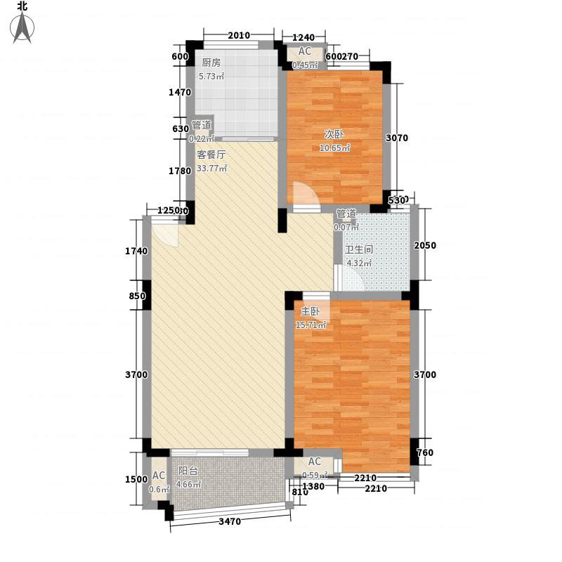 和一花园3.00㎡20060724-A1户型2室2厅1卫1厨