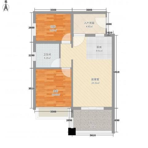 万泉明珠2室0厅1卫0厨80.00㎡户型图
