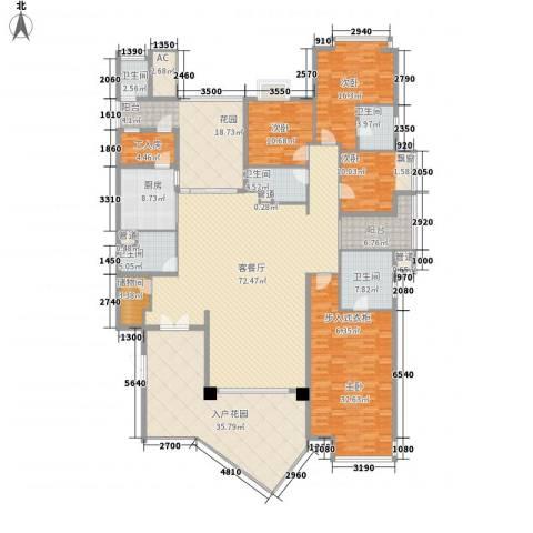 凯名轩4室1厅5卫1厨290.00㎡户型图