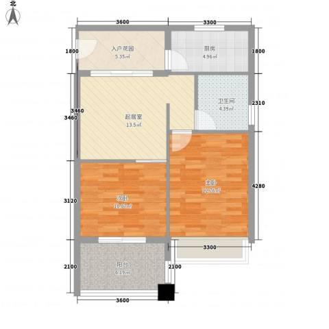 万泉明珠2室0厅1卫1厨80.00㎡户型图