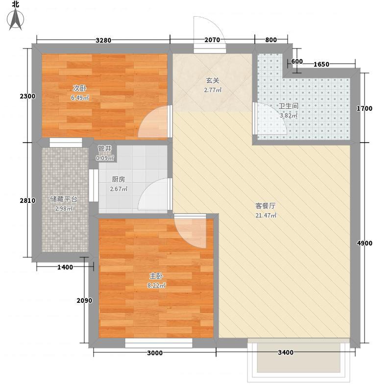 恒盛美景一期4号楼标准层E户型