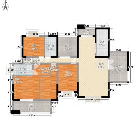 华悦尚城4室1厅2卫1厨178.00㎡户型图