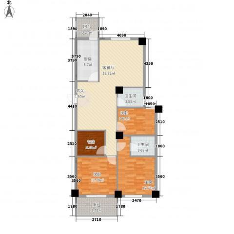 芝兰新城4室1厅2卫1厨132.00㎡户型图