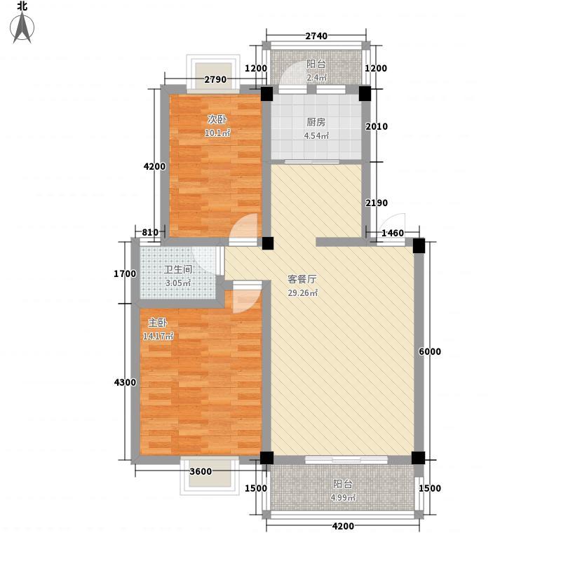 洪都新村 2室 户型图
