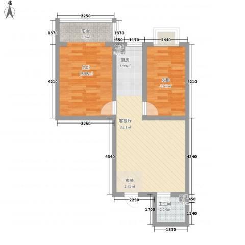 凤凰山庄三期2室1厅1卫0厨71.00㎡户型图