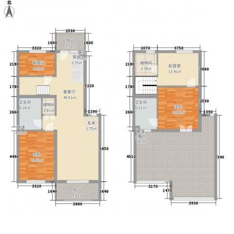 华悦尚城2室1厅2卫0厨207.00㎡户型图