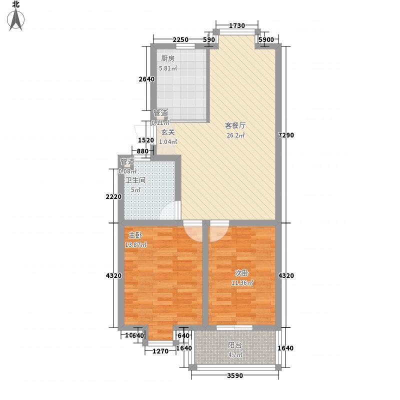 华达花园73.00㎡户型2室