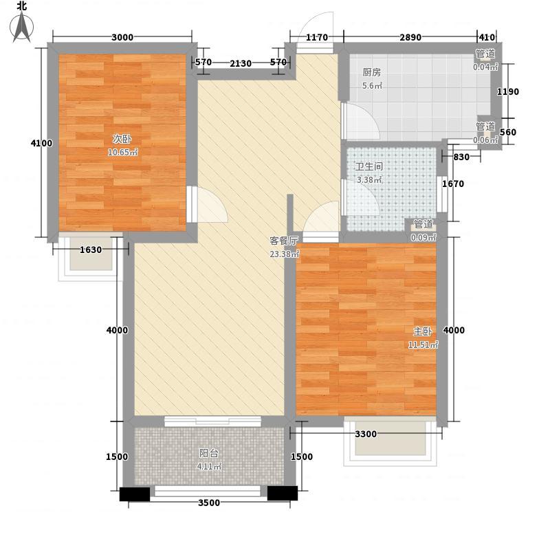 富力桃园82.21㎡富力桃园户型图D3-2户型2室2厅1卫1厨户型2室2厅1卫1厨